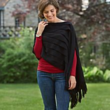 Women's Night Sky Peruvian Alpaca Poncho
