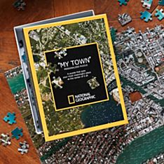 'My Town' Custom Aerial Map Puzzle