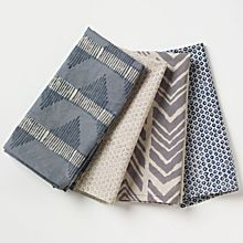 100% Cotton Safari Hand-Printed Napkins - Set of 4