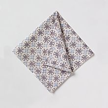 100% Cotton Bleu D'chine Hand-Printed Napkins - Set of 4