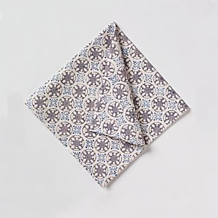 View Bleu D'Chine Hand-printed Napkins - Set of 4 image