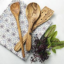 North African Olive-Wood Utensil Set