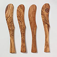 North African Olive-Wood Spreaders - Set of 4