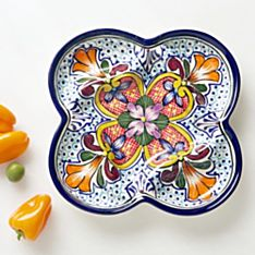 Handcrafted Talavera Appetizer Plate, Made in the State
