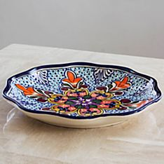 Handcrafted Talavera Serving Plate, Made in the State