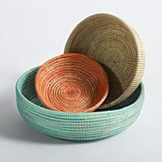 Senegalese Nesting Bowls - Set of 3