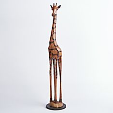 Zimbabwean Olivewood Giraffe - Large