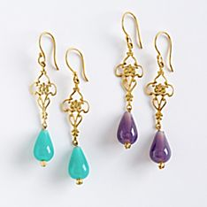 Jauhari Bazaar Bead Earrings, Handmade in India