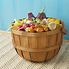 Peterboro Half-Bushel Basket, Handmade in New Hampshire with American-Made Materials