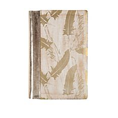 Uzma Gold Feather Wood Printed Journal, Handmade in Northern India