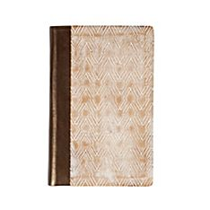 Uzma Arrow Wood Carved Journal, Handmade in Northern India