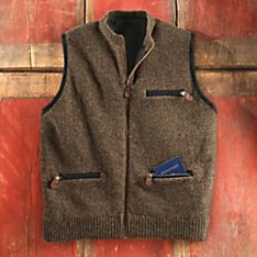Wool Vest Jacket for Men