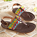Maasai Beaded Arrow Sandals