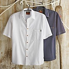 Men's Peruvian Cotton Guayabera Travel Shirt