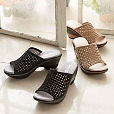 Women's Filigree Travel Slides