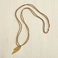 Ethiopian Gold Leaf Necklace