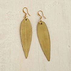 Ethiopian Gold Leaf Earrings