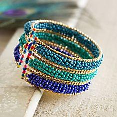 Himalayan Sky Beaded Bracelet