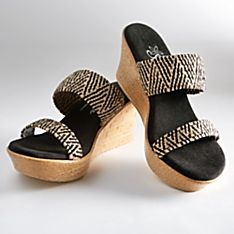 Hawaiian Raffia Wedge Sandals
