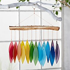Handcrafted Indonesian Rainbow Glass Windchime