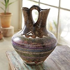 Native American Heritage Navajo Horsehair Wedding Vase