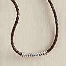 Javanese Silver Braided-leather Necklace