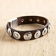 Andalusian Saddle Leather Bracelet, Handmade in Spain