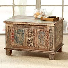 Handmade Indian Batik Block Trunk