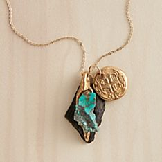 Handmade Turquoise Talisman Doubloon Necklace