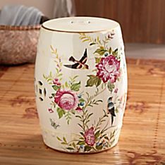 Chinese Peony Ceramic Garden Stool, Made in China