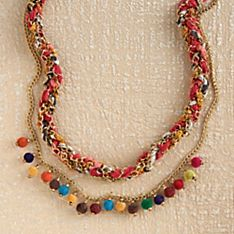 Indian Upcycled Kantha Necklace