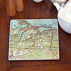 Personalized Handcrafted'my Town' Trivet