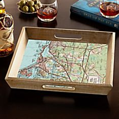 Personalized Handcrafted'my Town' Serving Tray