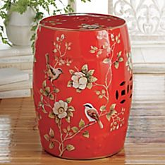 Good Fortune Ceramic Garden Stool