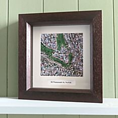 Personalized 'my Town' Custom Framed Aerial Wall Map