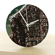 'My Town' Aerial Photo Clock - 8', Made in the United Kingdom