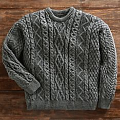 Aran Plaited-wool Crew Sweater