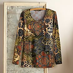 Indian Mendhi Travel Shirt