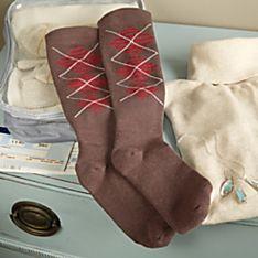 Women's Argyle Compression Socks