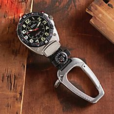National Geographic Black LED Micro-light Clip Watch