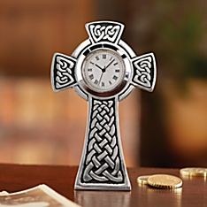 Pewter Celtic Cross Clock