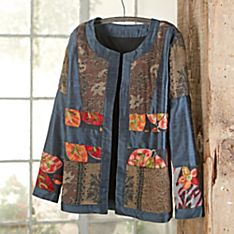 Indian Mixed-media Silk and Wool Jacket