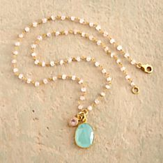 Indian Faceted Chalcedony Necklace