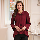 Chopsticks Travel Shirt - Merlot