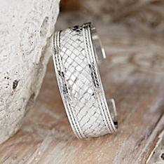 Balinese Basket-weave Sterling Silver Bracelet