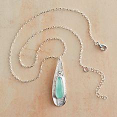 Roman Glass Petal Necklace