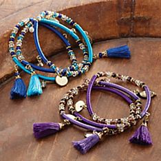Indian Tassel Bracelets - Set of 3