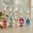 Egyptian Glass Mini Perfume Bottles - Set of 5
