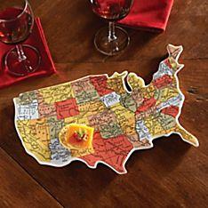 U.S.A. Map Platter
