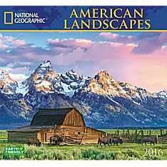 2016 National Geographic American Landscapes Wall Calendar